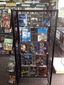 Book rack at Blockbuster in Fort Pierce